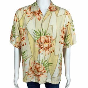 Tommy Bahama Men's 100% Silk Short Sleeve Hawaiian